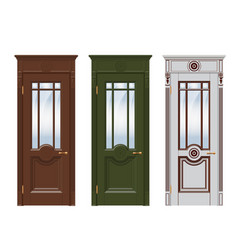 Doors set isolated on white vector