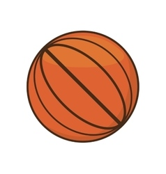 drawing basketball ball sport school team vector image