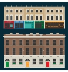 English terrace houses vector image