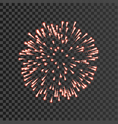 firework red bursting isolated transparent vector image
