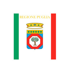 Flag of apulia italy vector