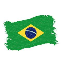 flag of brazil grunge abstract brush stroke vector image