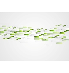 Green grey abstract tech vector