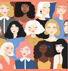 group portraits diverse women vector image
