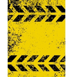 grungy and worn hazard vector image