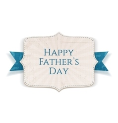 Happy Fathers Day greeting Banner vector