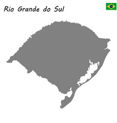 high quality map of state brazil vector image