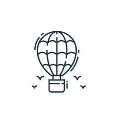 hot air balloon icon isolated on white background vector image