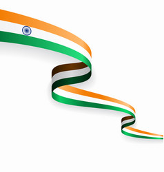 Indian flag wavy abstract background vector