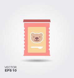 Jar of baby food vector