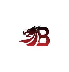 Letter b logo icon with dragon design vector