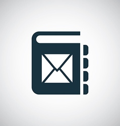 Mail book icon vector