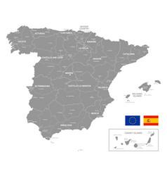 Map spain grey vector