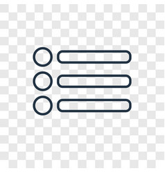 Menu bars concept linear icon isolated on vector