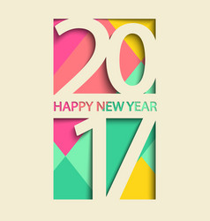 new 2017 year greeting card vector image