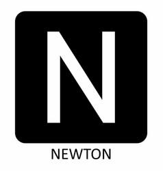 Newton force symbol vector