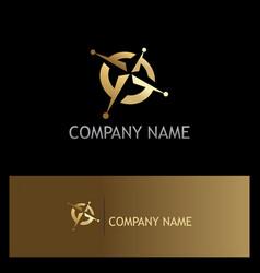North star adventure gold company logo vector