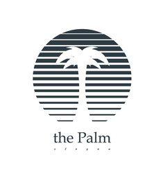 palm logotype design vector image