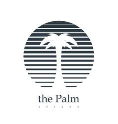 palm logotype design vector image