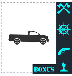 pickup truck icon flat vector image