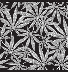 seamless cannabis background marijuana leaves on vector image