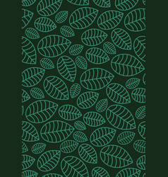 seamless linear leaves pattern vertical plant vector image