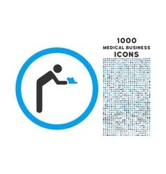 Servant Rounded Icon with 1000 Bonus Icons vector