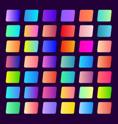 set 42 gradients for buttons and mobile games vector image