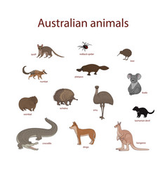 Set cartoon australian vector