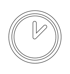 Simple clock design time concept silhouette vector