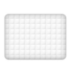 Soft mattress icon realistic style vector