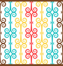 Spanish curl ornamental ceramic tile vector