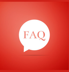 speech bubble with text faq information icon vector image