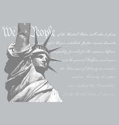 Statue of liberty - we the people vector