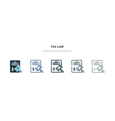 tax law icon in different style two colored vector image
