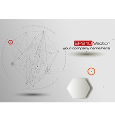 Technology and communication background vector image