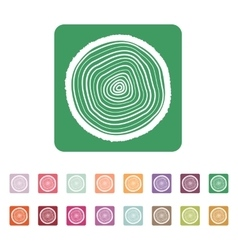 The tree rings icon Tree Rings symbol Flat vector
