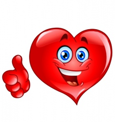 thumb up heart vector image