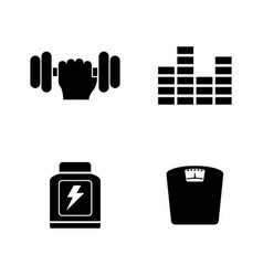 Training simple related icons vector
