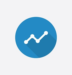 up diagram Flat Blue Simple Icon with long shadow vector image