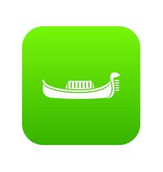 venice gondola icon digital green vector image