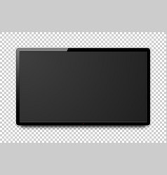 Wide realistic 4k tv screen vector
