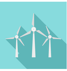 wind energy icon flat style vector image