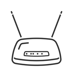 Wireless fidelity router line icon vector image