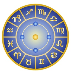 Zodiac signs horoscope symbols circle vector