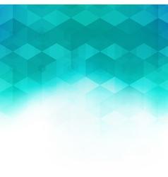 Abstract mosaic hexagonal geometric pattern vector
