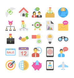 banking and finance colored icons 7 vector image vector image