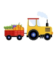 Farm tractor on white background icon vector image vector image