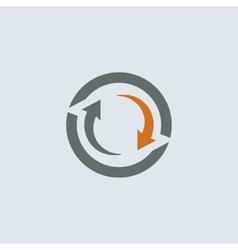 Gray-orange cycle round icon vector