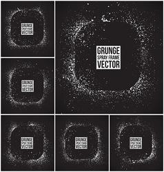 Grunge spray frames vector image vector image